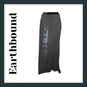 Earthbound Trading Co. Gray Moon Phase Skirt Sz M